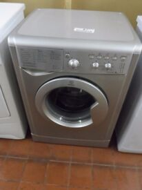 """""""Indesit """"Silver Washing machine.. 6kg..Spin-1200...For sale..Can be delivered."""