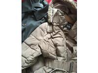 Coat and jacket.