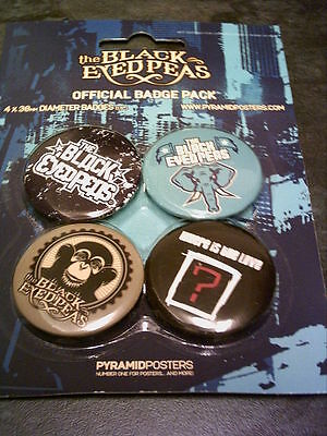 The Black Eyed Peas - Pack of 4 x 38mm Button Badges