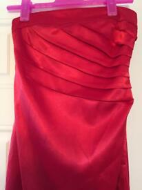 Hot red prom/bridesmaid dress.