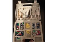 Drill bits screws and wall plugs heavy duty case