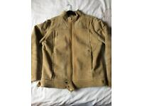 Men's medium leather suede jacket