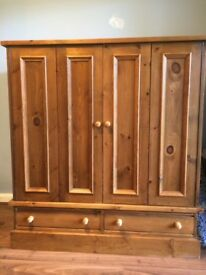Large solid wood TV cabinet/cupboard