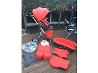 STOKKE XPLORY V4 RED PUSHCHAIR