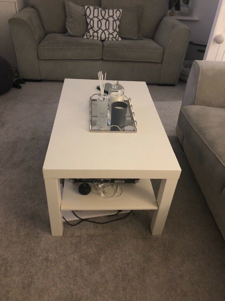 Ikea White Coffee Table In Poole Dorset Gumtree