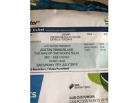 ***JUSTIN TIMBERLAKE STANDING TICKET FOR SAT 7TH JULY AT SSE HYDRO ***