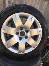 """Set of Vw Passat 16"""" alloys tyres 5/112"""