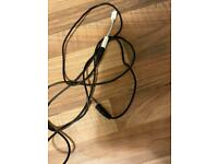 iPhone aux lead with adaptor. Suitable for headphones or aux leadss