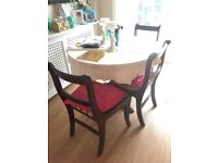 Very Elegant Dining Table and 3 Chairs