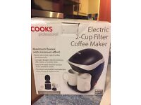Electric 2-Cup Filter Coffee Maker