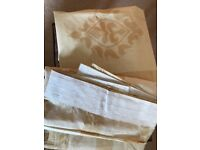 "Cream/light gold curtains new unused (2 pairs avail price per pair) size approx 66"" x 82"""
