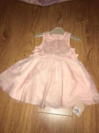 Brand new with tags girls dress 9-12 months