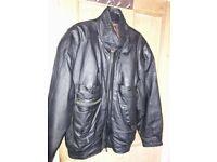 Black Leather Jacket (Men's)