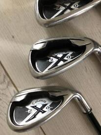 Callaway X20 Irons 3 iron to 9 iron including S and P wedge and Dunlop putter