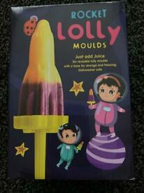 Rocket ice lolly moulds