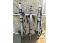 Thule roof rack/clamps with 3 bike carriers
