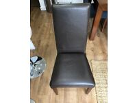 Free - Next mango leather dining chairs with pet damaged upholstery - set of 6