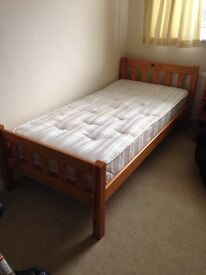 Single Bed and Mattress~ Wooden frame