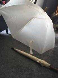 Ivory wedding umbrellas - unused