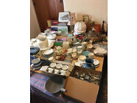 Vintage crockery, cutlery and collectibles - ideal vintage fair/car boot items