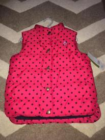 M&P Girls Gilet -Age 5-6 years. BMWT