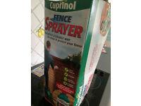 cuprinol fence sprayer used not tested