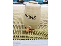 MOIRA POTTERY stoneware wine cask/barrel