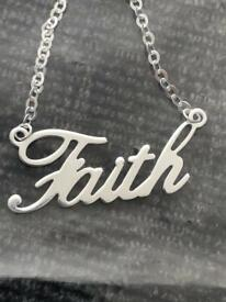 Sterling silver 925 chain 18 inch necklace love hope blessed dream queen