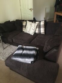 Brown corner sofa for sale only year old , good condition only selling because moving house