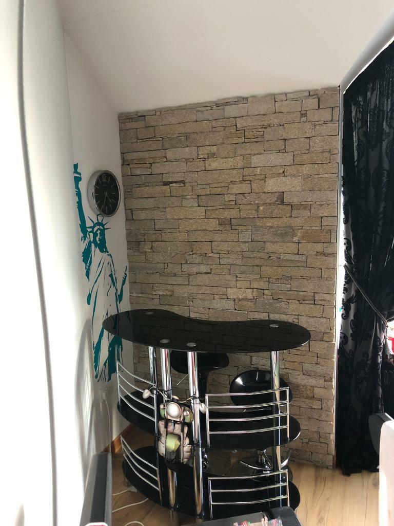 Enjoyable Bar Black Gloss Chrome Matching Bar Stools In Bangor County Down Gumtree Caraccident5 Cool Chair Designs And Ideas Caraccident5Info
