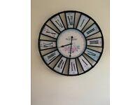 Large rustic wall clock
