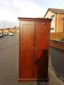 Walnut double door wardrobe