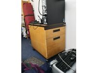 under desk drawer unit with filing space