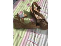 Lovely ladies wedge sandals size 5 brand new!