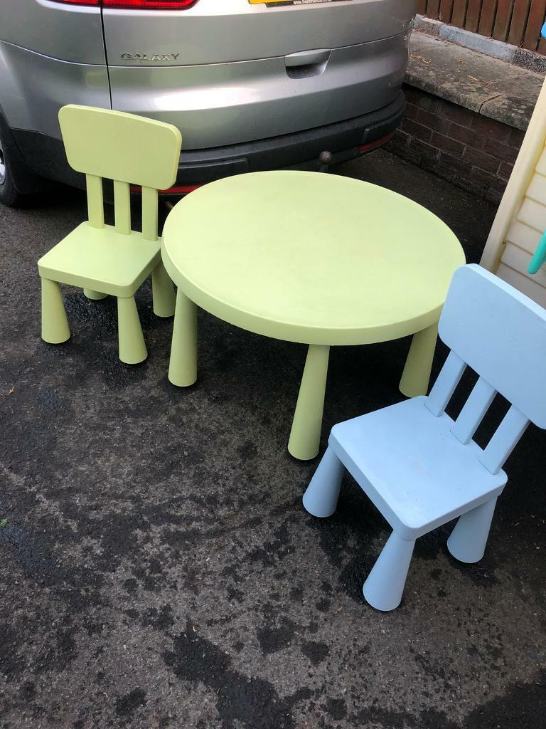 Picture of: Kids Desk Table And Chairs Ikea In Newtownabbey County Antrim Gumtree