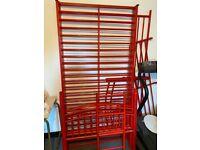 Red Metal Bunk Bed Frame