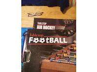 Table air hockey, and table football
