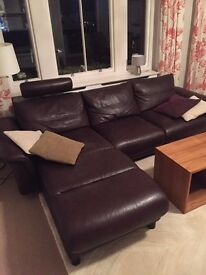 Norwegian designer leather sofa Stressless E300 (company EKORNES)