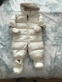 Feather filled baby GAP snowsuit