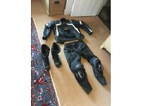 RST Trackstar 2 piece leathers w/ boots