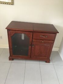 Mahogany CD/Hi-fi/record player unit