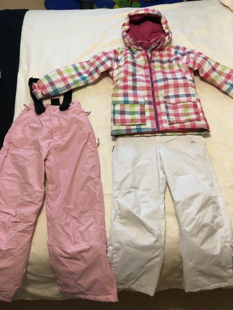 Girl s Trespass salopettes and ski jacket (aged 7-8)  e18db9620