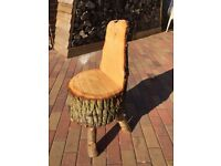 Oak chair/stool/hobbit seat, handmade