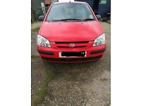 Hyundai Getz, owned by the family since new. Five door hatchback, low insurance, mot until June 2018
