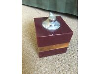 Faux marble table lighter