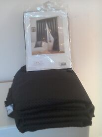 New Luxury Fully Lined Black Curtains