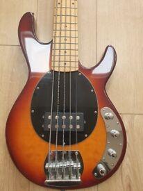 Vintage 5 string bass guitar