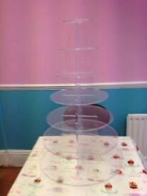 7 tier acrylic cake stand