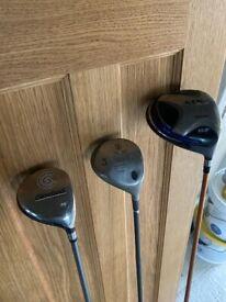 3x golf clubs