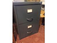 Grey filing cabinet - 2 drawer